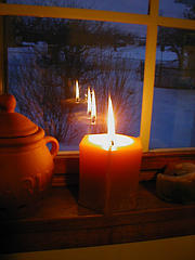 Candle in the Window: Photo: Chris Campbell